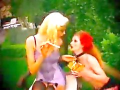 Young Cigarette Smoking Lesbians Love To Make Out In Their Lingerie bdsm bondage slave femdom domina