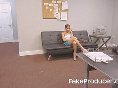 FakeProducer Tricks Petite Latina Into A BJ