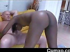 Black Sexy Beauty Teen Sucking White Cock
