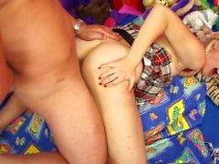 Teenyplayground - Innocent blonde teen fucked by teacher & feed with cum