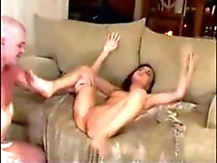 Orgasmic delicious brunette has several orgasms
