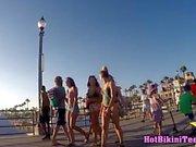 Big Tits Bikini Thong beach teens spied hidden cam voyeur