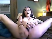 Asian Stretches Tight Pussy With Huge Dildo