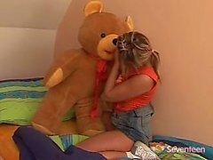 Playing sexy big teddy