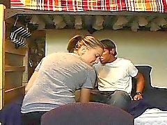 Cute teen is driving young stud mad with fellatio