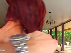 Valentina in hard gonzo style scene from Tamed Teens