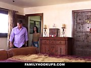 FamilyHookUps - Horny Rides Her Stepdads Cock