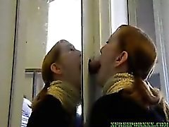 Homemade gloryhole bj swallow for a
