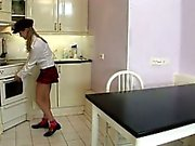 Awesome girl plays with balls