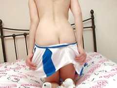 Sapphire is super hot in her cheerleader uniform but even hotter when she strips