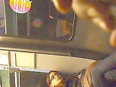 girl flashing in subway PARIS humm