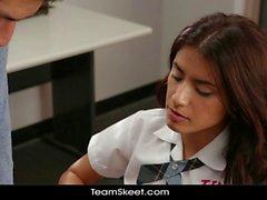 Teen schoolgirl Ava Mendes