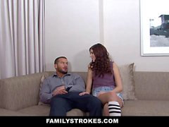 FamilyStrokes Teen Brat Seduces Her New StepDa