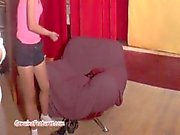 Gipsy teen masturbating her pussy at the casting.