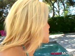 Milf stepmom in bikini