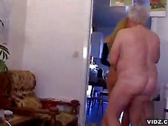 Old man pounds alluring doll's cunt tunnel