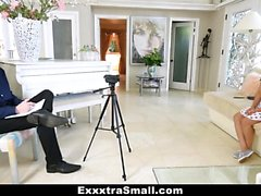 ExxxtraSmall - Small Framed Latina Likes It Big