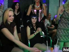Amazing party girls get their pussies plowed