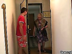 He picks up crazy old bitch
