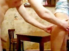 Young Russian Couple Kitchen Fuck teen amateur teen cumshots swallow dp an