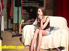 Skinny teen fucked hard at the CASTING
