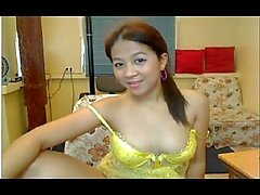 Asian teen in webcam live show