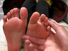 Latina daughter feet