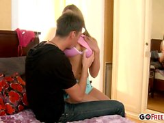 Slutty Amy gets drilled up for pleasure