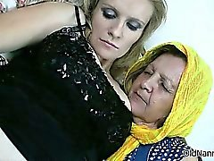 Horny granny loves having lesbian sex part6