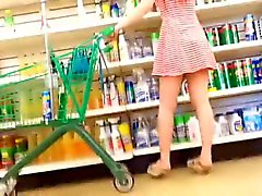 Asian teen Upskirt dollar tree