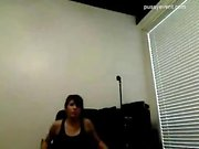 Flexible teen in yellow panties on webcam