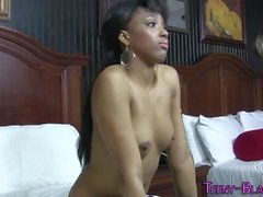Ebony teen face creamed