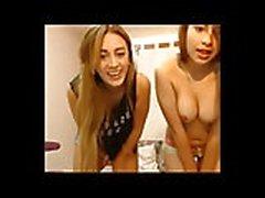 3 girls take turns licking pussies