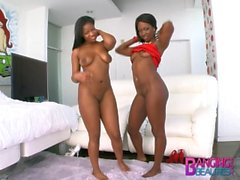 Banging Beauties Sloppy Ebony Cocksuckers Monique Symone and Skyler Nicole