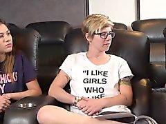 Lesbian teens making out