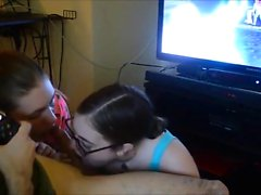 2 Teems making blowjob and hand job