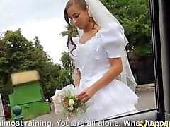 Bride cant wait to get fucked hard