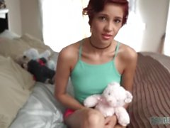 Tight Pussy Teenage Cadey Mercury Gets Taught A Lesson By Daddy's Big Cock