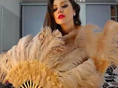 Hot Teen with Feathers Dances on Cam