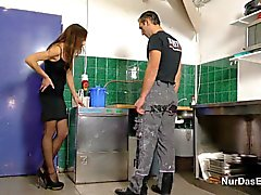 German Step-dad Caught and Fuck NOT Step-daughter Party