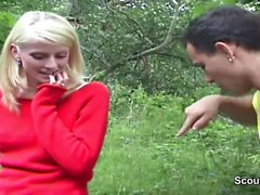 Czech Teen Seduce Fake Porn Casting outdoor by 2 german boys