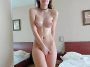 Horny Shaved Teen Chatting Live With Her Fans