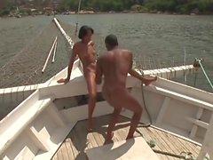 Slim Teen On A Boat