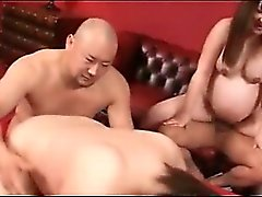 Pregnant jap sluts humping hairy starved shafts in foursome