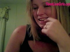 Married Teen On Webcam while husband at work