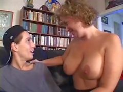 Mature Women gets some help from a younger guy