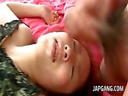Asian teen banged hardcore getting a messy bukkake