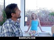 BadMILFS - Hot Ginger And Blonde Teen Share Gardeners Cock