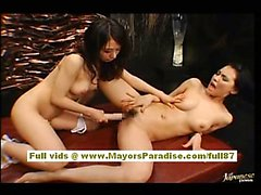 Maria and Osawa Chinese girls fondle each others pussies
