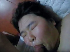 Sexy Chubby Asian Teen CIM Then Gets A facial
